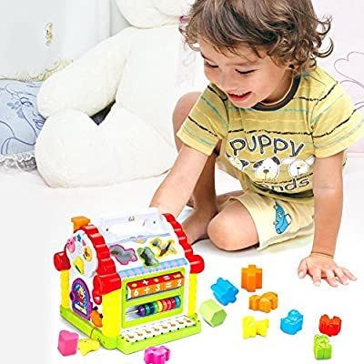 TOYK kids toys Musical Colorful Baby Fun House Many Kinds Of Music Electronic Geometric Blocks Learning Educational Toys - Toys for girls and boys kids or toddlers by TOYK CHINA that we recomend personally.