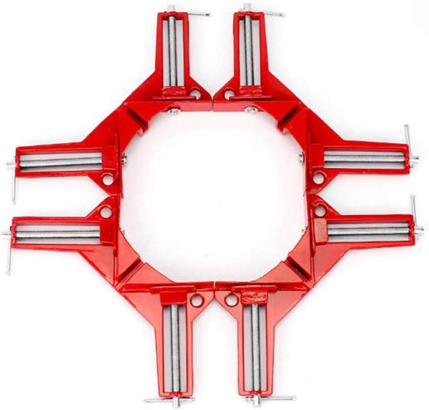 rongweiwang 90 degr/és /à Angle Droit de Serrage Mitre Pince de Serrage dangle Serre-Joint Porte-Image Boiseries Angle Droit du Bois Outil
