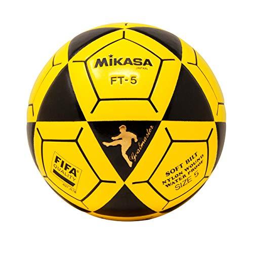 (Mikasa FT5 Goal Master Soccer Ball, Black/Yellow, Size 5)