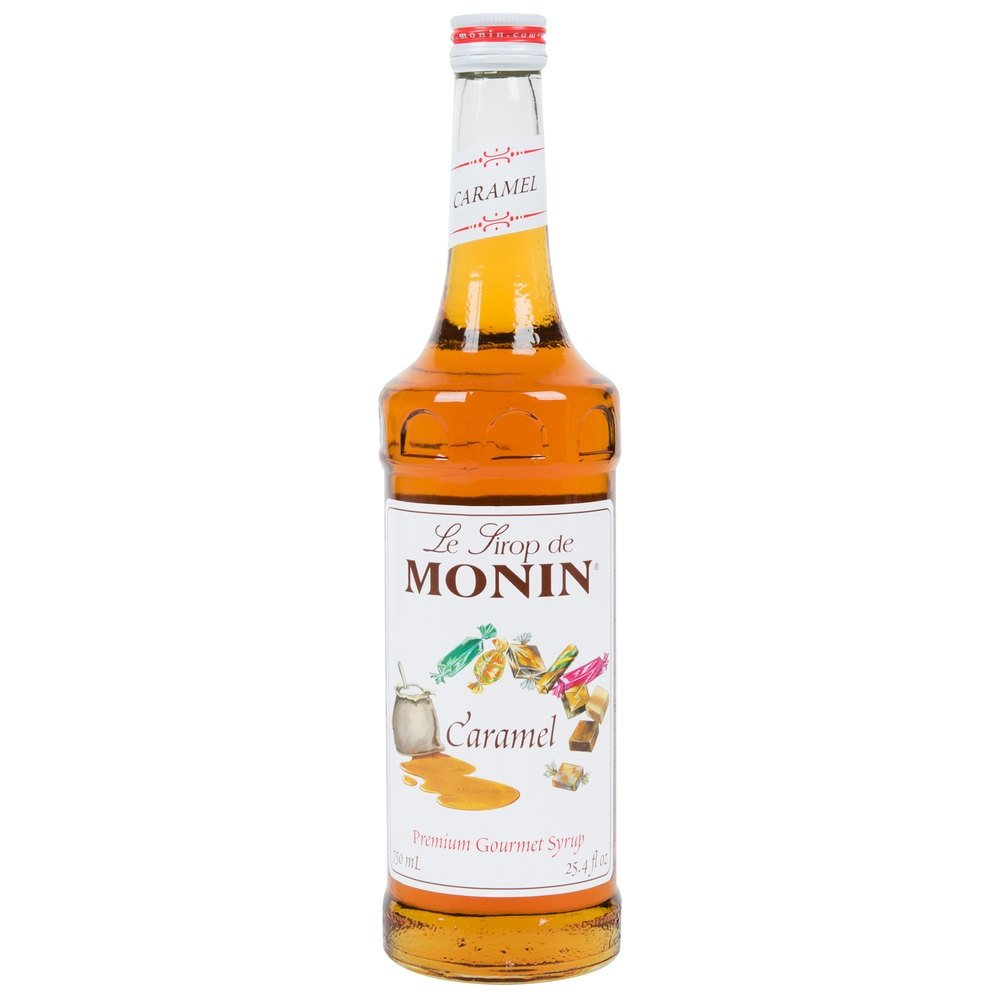 Amazon Com Monin Caramel Syrup 750 Ml Caramel Syrup For Coffee Grocery Gourmet Food