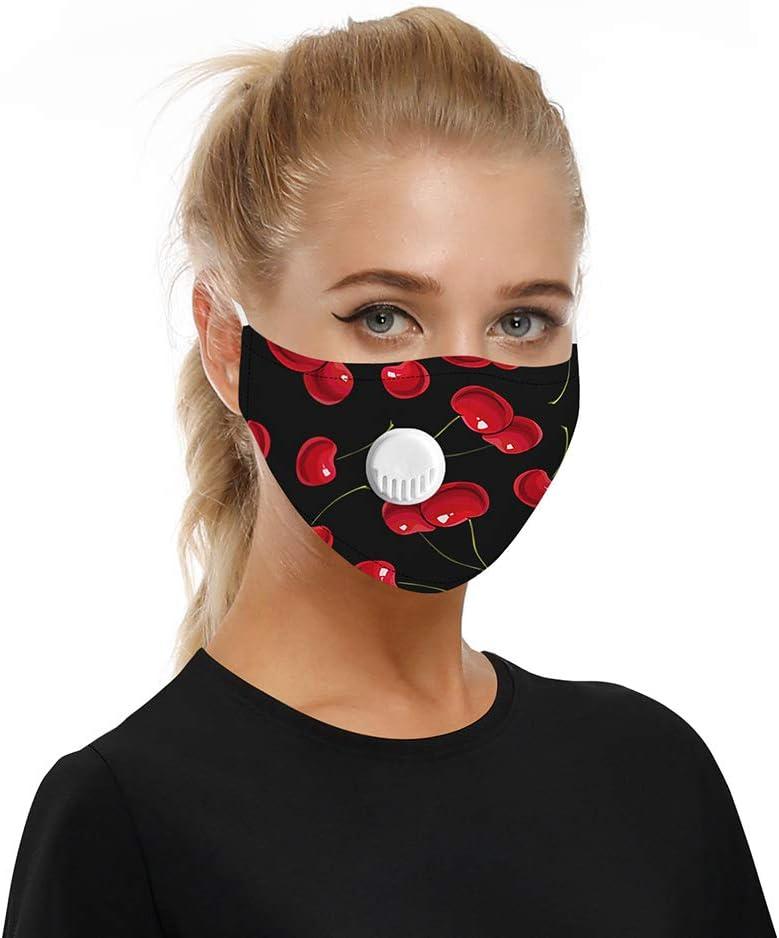 WWJJLL Protección Facial, PM2.5 Deportes al Aire Libre y en Bicicleta impresión Digital a Prueba de Polvo del Filtro de la viruta 3D ambientador de Aire purificador enchufable