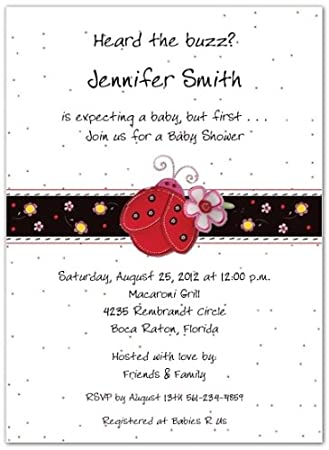 Amazon ladybug baby shower invitations set of 20 baby ladybug baby shower invitations set of 20 filmwisefo Image collections