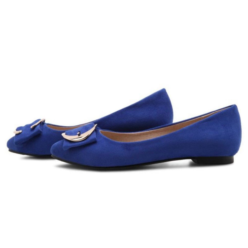 Onewus Flats with Plus Faux Suede Shoes for Office Ladies