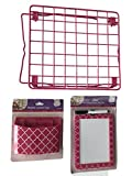 Pink School Locker Set, Locker Shelf, Pencil/Make up Holder, Dry Erase Board