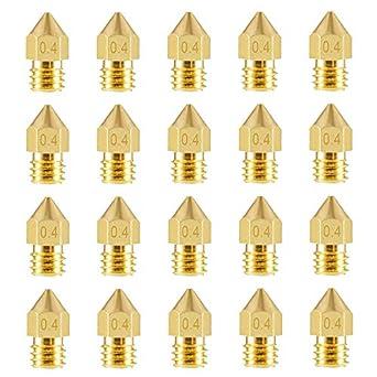 Boquillas de latón para impresora 3D Aokin MK8, boquilla de 0,4 mm ...