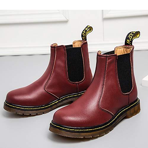 Martin Stivali Classico Chelsea Stivaletti Red Boots Brogue Pelle Uomo Matrimonio Nero Stivali Classico xYHzqRY8