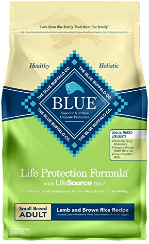 Blue Buffalo Life Protection Formula Natural Adult Small Breed Dry Dog Food, Lamb and Brown Rice 6-lb