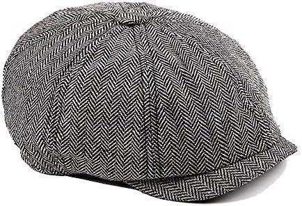 野球帽 キャスケット メンズ ハット ゴルフ 綿 ポリエステル 調整可能 クラシック ソフト ハンチング 55-60cm LWQJP (Color : 1, Size : Free size)