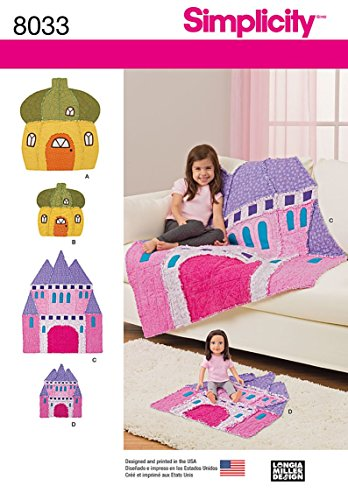 Simplicity Patterns Rag Quilts and Matching Doll Rag Quilts Size: Os (One Size), 8033