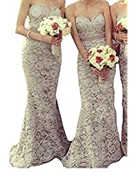 Fall Country Lace Champagne Bridesmaid Dresses Vintage Long Maids Prom Gowns