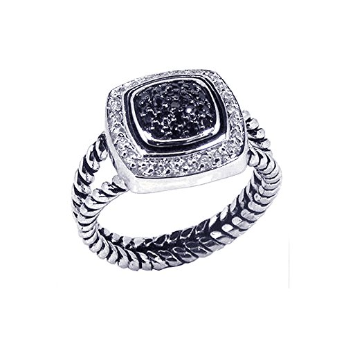 sterling-silver-rhodium-plated-white-black-cz-rope-design-band-womens-ring-size-6