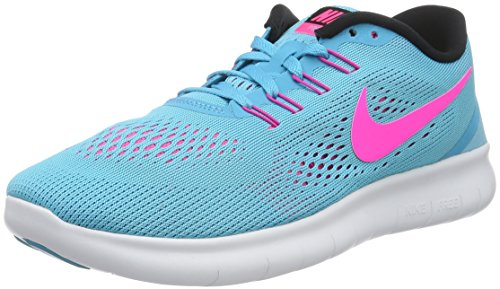 pretty nice f13a2 8cb5d Amazon.com  Nike Womens Free RN Running Shoe Blue Pink Size 9  Road  Running
