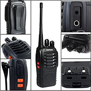 Walkie Talkie Radio 8PCS Ammiy baofeng BF-888S Portable Ham Two Way Radio Handheld UHF 400-470MHz Transceiver Interphone With Rechargeable Li-ion Battery Headphones (Pack of 8)