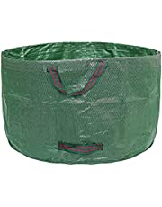 Garden Collapsible Leaf Bags, 63 Gallons Lawn Garden Bags, Garden Waste Bags, Reusable Bags Gardening Bags Collapsible Lawn Pool Garden Leaf Waste Bag Container Tote Trash Can