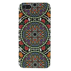 Piaopiao Circles with Flowers Pattern Hard Case for iPhone 5/5S