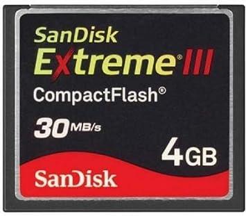 SanDisk 4 GB Extreme III CF Compact Flash Card Flash Speicher 30 MB