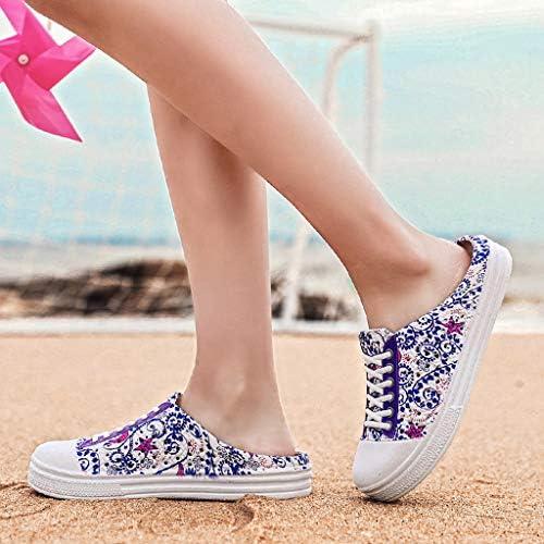 Overmal Sabots Femme Fille Chaussures de Plage Piscine Chaussons Chaussures de Outdoor 2020 Printemps et /ét/é Nouveau Impression Flats Sandales Chaussures de Pluie Hollow Out