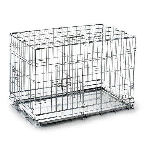 SmithBuilt Folding Metal Dog Crate w/ Divider - Double Door