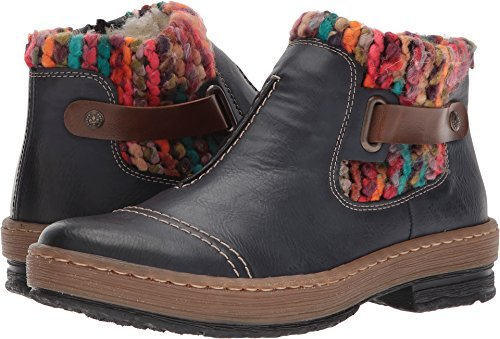 Rieker Antistress Women's Felicitas 84 Ankle Boot,OzeanMoganoMulti Synthetic,E
