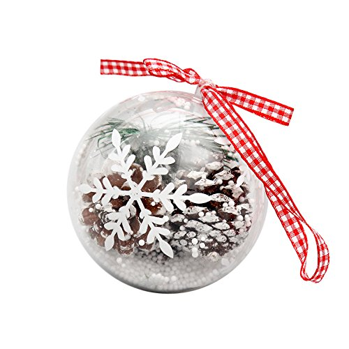 Kimanli Christmas House, Number, Snowflake Glitter Balls Party Ornaments Christmas Tree Hanging Decor Gifts Hot ! (D)