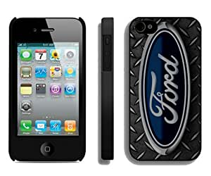 Ford logo 2 Black Custom Phone Shell iPhone 4S Case Cool Design