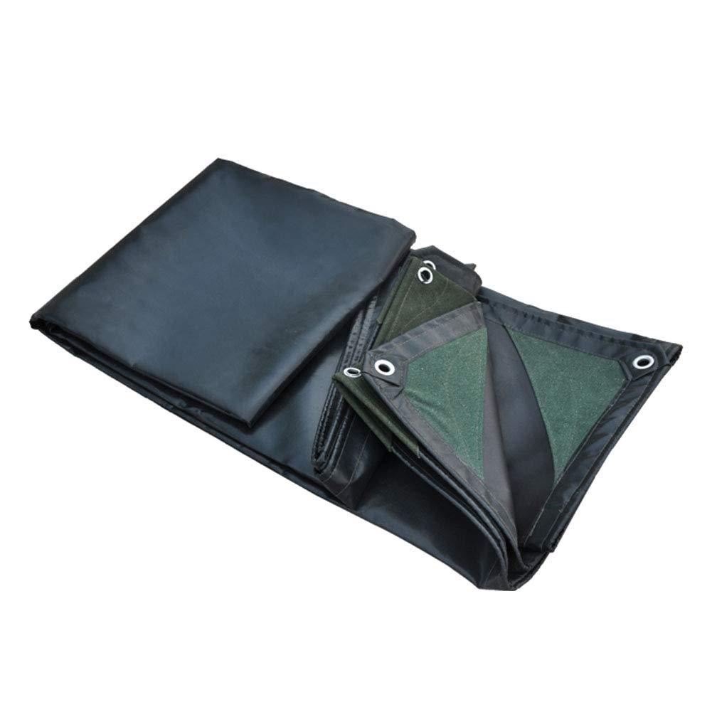ZEMIN オーニング サンシェードテン トタープ ターポリン 防水 引き裂き抵抗 スプライス 不凍液 ボタンホール PVC、 濃い緑色、 600G / 複数のサイズ (色 : 濃い緑色, サイズ さいず : 4.8X5.8M) 4.8X5.8M 濃い緑色 B00PTRZ0KO