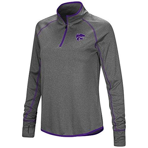 (Colosseum Womens Kansas State Wildcats Quarter Zip Wind Shirt - S)