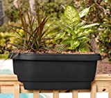Bloem Deck Balcony Rail Planter 24'' Black