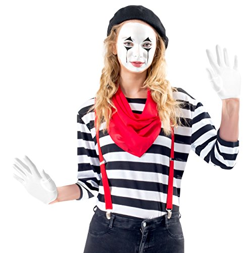 Women's Mime Costume Set with Makeup Kit (Adult Large) for $<!--$29.95-->