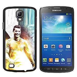 Ronaldo Fútbol- Metal de aluminio y de plástico duro Caja del teléfono - Negro - Samsung i9295 Galaxy S4 Active / i537 (NOT S4)