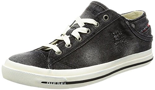 - Diesel Exposure Low I Black White Mens Trainers Shoes-12