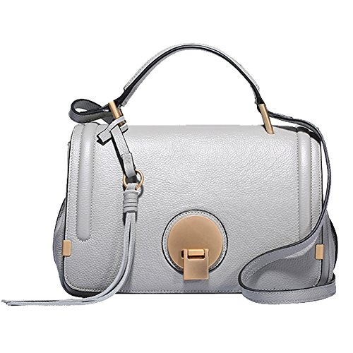 Soft Dissa Shoulder Bag Pockets Handbags Leather Women Grey Multiple Q0748 UEqErF