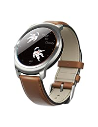 Ticwatch 2 Classic 42mm Smartwatch-Oak-Mobvoi Voice Controll Ticwear OS Compatible with Android and iOS,Personal Assistant on your wrist