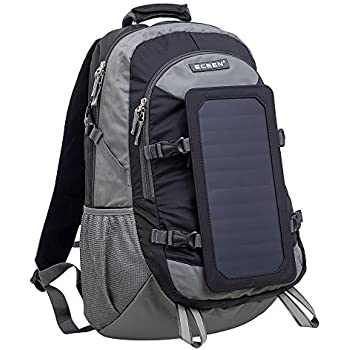ECEEN Camping Backpack, 7 Watts Solar Powered Bag, Poly Materials Solar Power Charger for Cell Phones Other's 5V Device (Without Battery Pack)