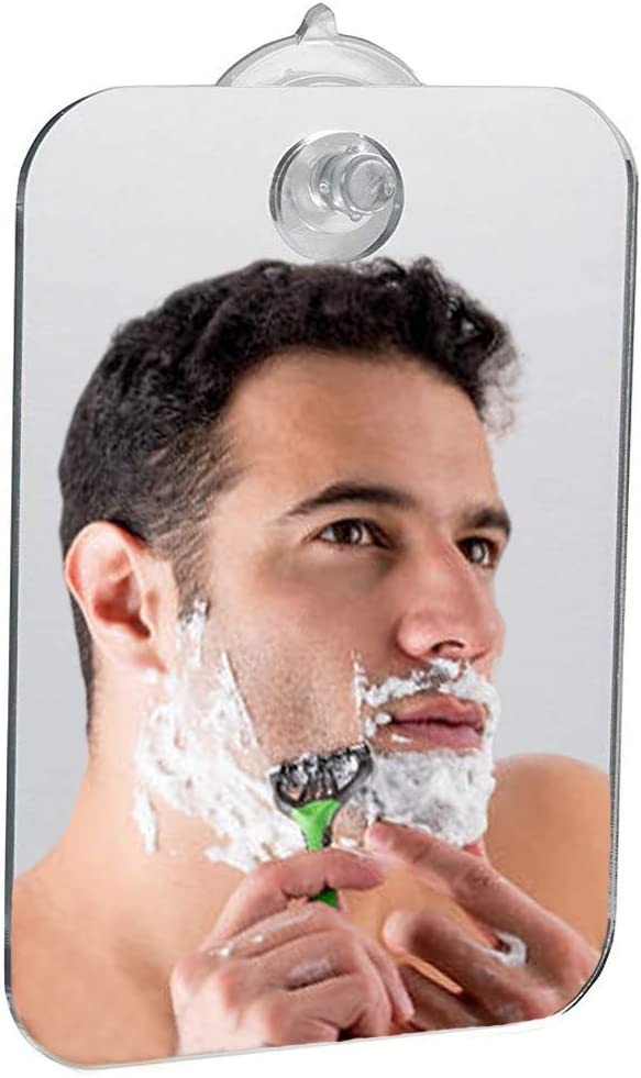 KUANSHENG Fogless Shower Mirror, Fog Free Travel Mirror for Men and Women,Shower Mirror Fogless Shave Mirror,Shower Mirror Large Size with Suction Hook,Shave at Home and Away