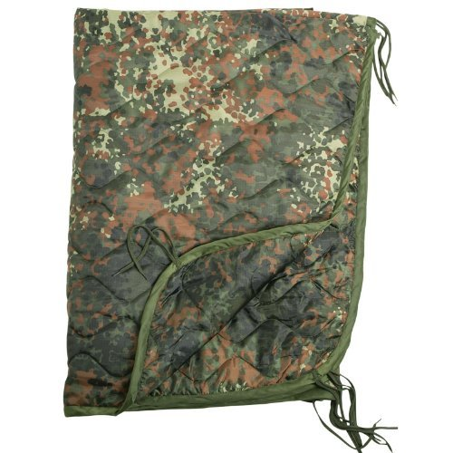 Army Military Camping Travel Poncho Liner Sleeping Bag Blanket Flecktarn Camo by Mil-Tec by Miltec