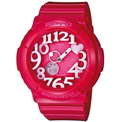 Casio Women's Baby-G BGA130-4B Pink Resin Quartz Watch with Pink (Baby G Pink Dial)