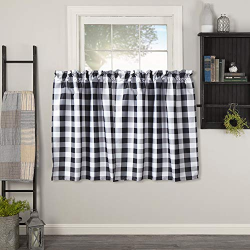 Check Tailored Curtain - 1