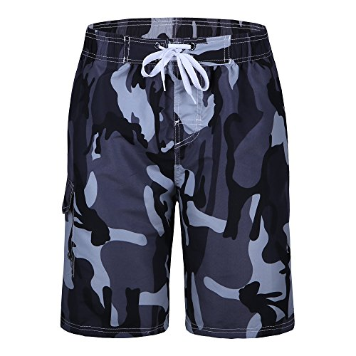Men's swim trunks quick dry camp board shorts