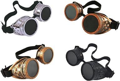 4pcs Retro welding Goggles