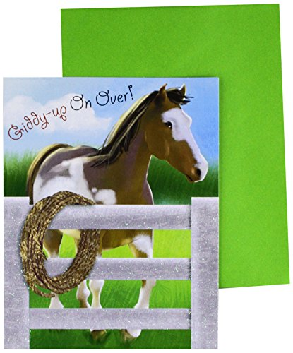 Horse Party Invitations (Amscan 490138 Invitations, One Size,)