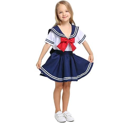 LOLANTA Conjunto de Vestido Azul Marinero para niñas niños ...