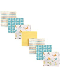 Luvable Friends 7 Piece Flannel Receiving Blanket, ABC, One Size