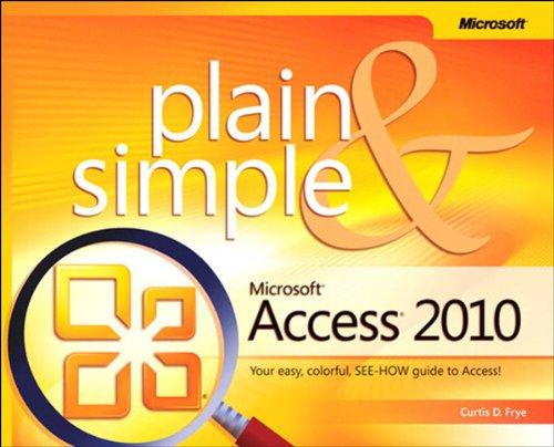 Microsoft Access 2010 Plain & Simple Pdf