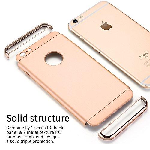 Coque iPhone 6s Plus, Coque iPhone 6 Plus, RANVOO 3 en 1 Coque de Protections, Electro Placage Texture Protector, Excellent Toucher,Or