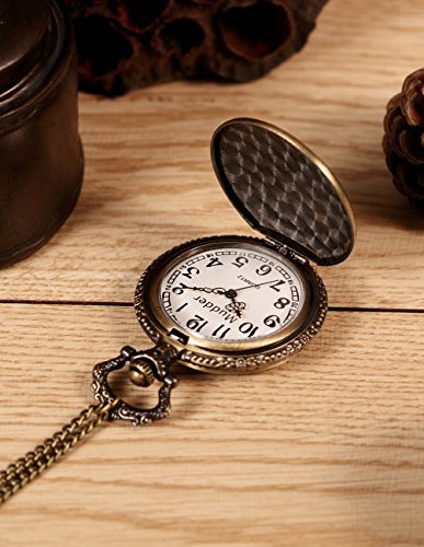 Mudder Vintage Quartz Pocket Watch with Chain