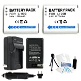2-Pack LI-90B High-Capacity Replacement Batteries with Rapid Travel Charger for Select Olympus Digital Cameras. UltraPro Bundle Includes: Camera Cleaning Kit, Screen Protector, Mini Travel Tripod