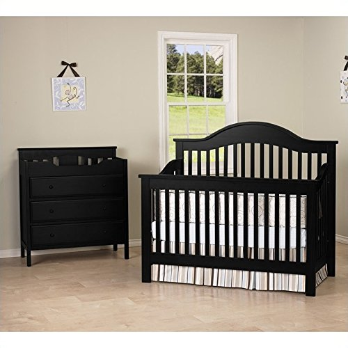 - DaVinci Jayden 4-in-1 Convertible Crib with Changing Table in Ebony