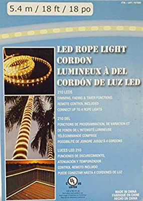 Led Rope Light 5.4m/18ft/18po 210 LEDS Dimming,Fading
