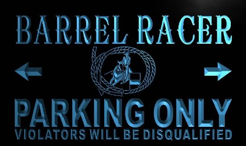 (ADV PRO n118-b Barrel Racer Parking Only Neon Light Sign)
